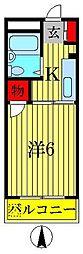 パークアベニュー小林[2階]の間取り