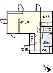 サンシャイン杁中[3階]の間取り