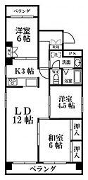 DH神屋[6階]の間取り