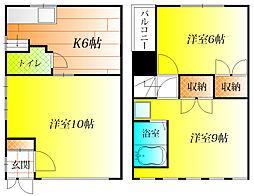 [一戸建] 大阪府藤井寺市小山2丁目 の賃貸【/】の間取り