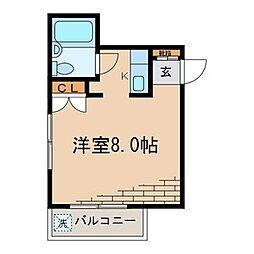 東京都品川区南品川1丁目の賃貸マンションの間取り