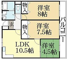 こまつハウス[1階]の間取り