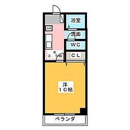 maison rouge[3階]の間取り