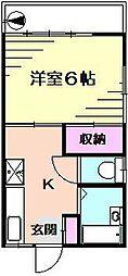 ドミールアリタ[2階]の間取り