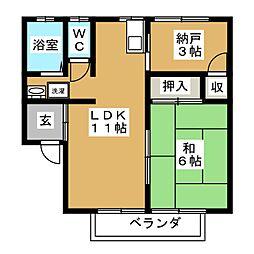 フューチャ21[2階]の間取り