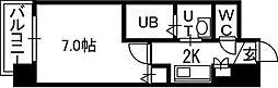 PRIME URBAN知事公館[3階]の間取り