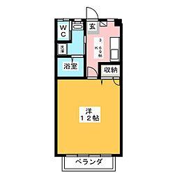 グリーンハイツ三澤パート7[108号室]の間取り