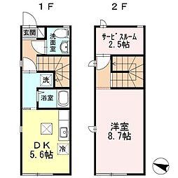 [タウンハウス] 新潟県新潟市中央区紫竹山7丁目 の賃貸【/】の間取り