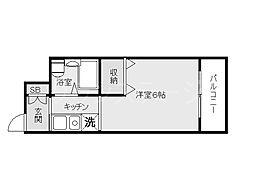 大阪府大阪市旭区高殿6丁目の賃貸マンションの間取り