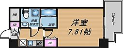 Osaka Metro谷町線 天神橋筋六丁目駅 徒歩3分の賃貸マンション 9階1Kの間取り