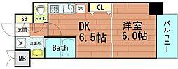 コスモプレミアムベイ大阪[6階]の間取り