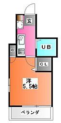 東京都北区赤羽南1の賃貸アパートの間取り