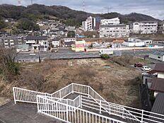 南側高台からの外観