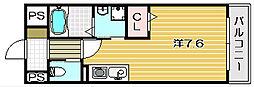 トップティー稲葉[1階]の間取り