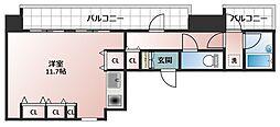 I Cube 阿波座[10階]の間取り