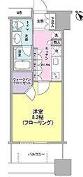 JR山手線 大塚駅 徒歩10分の賃貸マンション 2階1Kの間取り