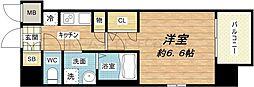 レジュールアッシュ心斎橋VITA[4階]の間取り