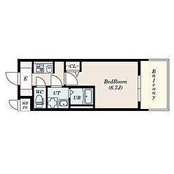 名古屋市営名城線 上前津駅 徒歩3分の賃貸マンション 4階1Kの間取り