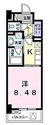 高松琴平電気鉄道琴平線 栗林公園駅 徒歩8分の賃貸マンション 1階1Kの間取り