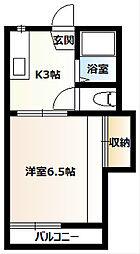 桜コーポA[205号室]の間取り
