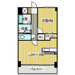 愛知県名古屋市港区十一屋1丁目の賃貸マンションの間取り