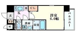 エスリード新大阪グランゲートサウス 9階1Kの間取り
