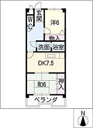 シャイニングII[4階]の間取り