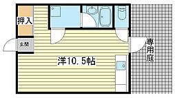 日東ハイツ辻井[103号室]の間取り