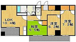 ポートサイド・博多[6階]の間取り