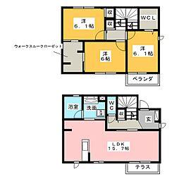 [一戸建] 愛知県名古屋市中村区東宿町1丁目 の賃貸【/】の間取り