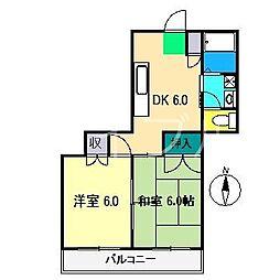 ビアスナワテ[3階]の間取り