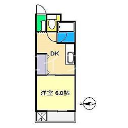 メイプル高須[1階]の間取り