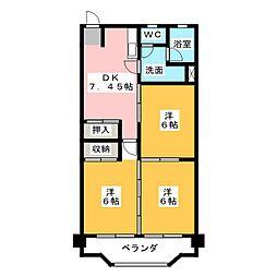 フィレンツェ弥富第二[2階]の間取り
