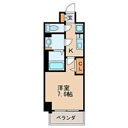 プレサンス新栄リベラ 3階1Kの間取り