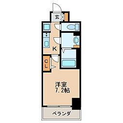 プレサンス新栄リベラ 7階1Kの間取り