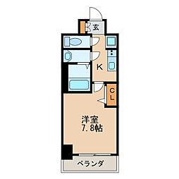 アドバンス名古屋モクシー 4階1Kの間取り