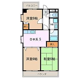 ニッシンパークサイドマンション[2階]の間取り