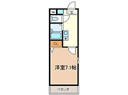 愛知県名古屋市天白区平針南4丁目の賃貸マンションの間取り