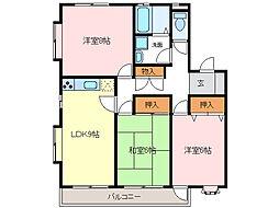 タウンハウス郷[1階]の間取り