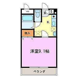 グランモアメイト[2階]の間取り