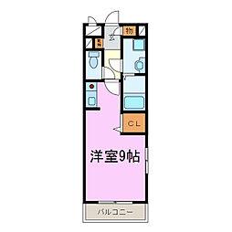 コーポPaseli[2階]の間取り