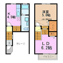 [テラスハウス] 愛知県愛知郡東郷町春木台2丁目 の賃貸【/】の間取り