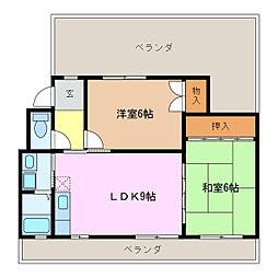 サニーライフU[4階]の間取り