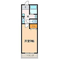 愛知県日進市岩崎町西ノ平の賃貸マンションの間取り