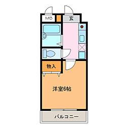 アパートメントハウス フォーナイン[6階]の間取り