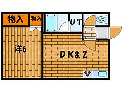 北海道函館市海岸町の賃貸アパートの間取り