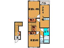 北海道函館市神山3丁目の賃貸アパートの間取り