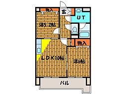 北海道函館市西桔梗町の賃貸マンションの間取り