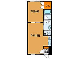 北海道函館市高盛町の賃貸アパートの間取り