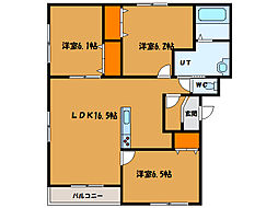 北海道函館市青柳町の賃貸マンションの間取り